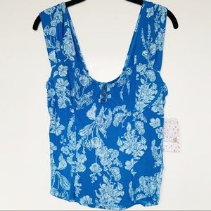 NWT Free People Vanessa Floral Tank Top
